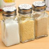 Lead -Free Salt Pepper Glass Jar Kitchenware Jar White Pepper Glass Jar