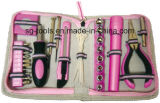 36PCS Lady Tool Set, Tool Bag with ABS Rubber Handle