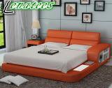 Lb8805 Designer Furniture LED Light and Storage Modern Bed