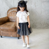 Short Skirt Suit Two-Piece Suit Dress with Little Girl's Personality. Kids Wear. Girl Clothes. Children Clothes.