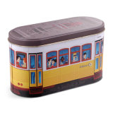 Creative Tinplate Bus Shape Empty Tins Candy Cookie Gift Storage Container Holiday Decorative Box