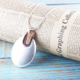 Fashion Anti Silver and Rose Gold Oval Shaped Pendant Necklace