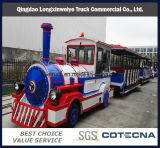 China, City, Outdoor, Tourist, Park, Diesel, Trackless, Christmas Tourist Fun Train