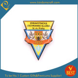 Cheap Custom Brand Golden Finished Printed Epoxy Pin Badge From China