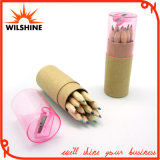 3.5' Wooden Color Pencil with Sharpener for Stationery Set (MP002)