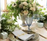 Pressed Pattern Wine Glass Wedding Goblet Vintage Water Glass