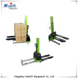 500kg Self Load Stacker Hand Pallet Lift Forklift Lifting Height 1100mm