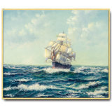 Wholesale High Quality Decoration Oil Painting, Home Decoration Painting, Art Painting Sail Boat Seascape Oil Painting)