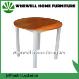 Pine Wood Bi-Color Round Dining Table (W-T-0620)