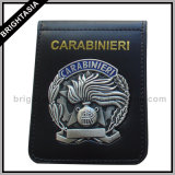 Metal Badge Genuine Leather Wallet for Police (BYH-10022)