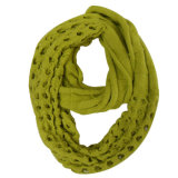 Lady Fashion Acrylic Knitted Infinity Scarf (YKY4169)