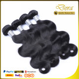 Natural Black Human Hair Weft Weaving Brazilian Virgin Hair Extension