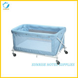 High Quality Foldable Baby Cot with Metal Frame
