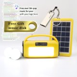 MP3 Player FM Radio LED Lamp LED Torch with Rechargeable Battery Bluetooth Wireless Speaker with Solar Power Bank