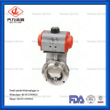 Ss304 Sanitary Butterfly Valve with Pneumatic Actuator Double Acting