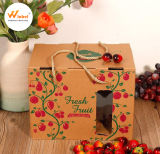 Color Printing Grape Strawberry Hollow with Tray Gift Box Portable Fruit Packaging Box