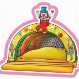 Cheer Amusement Circus Themed Inflatable with Clown Amusement Equipment