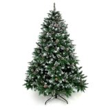 Artificial Christmas Tree Snow Flocked Trees with Pine Cone Decoration Unlit