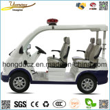 4 Seats Electric Car for Police with Alarm Lamp