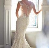 2017 Decent Long Sleeves Lace Appliques Wedding Dress (Dream-100023)