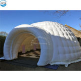 Round LED Outdoor Camping Air Cube Inflatable Yurt Tents with Tunnel