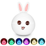 Baby Cute Rabbit Silicone LED Night Light Lamp