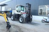 Cheap 3-5 Tons All Rough Terrain Diesel off-Road Fork Lift Forklift Trucks