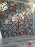 Rusty Slate Floor Paving Tile with Round Shape Design