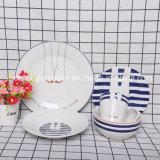 Western Modern Blue Style Porcelain Dinnerware