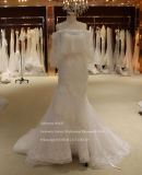Super Quality Mermaid Lace Trim Wedding Dress with Shawl