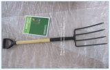 Fork Garden Fork Steel Fork with Wood Handle and Grip