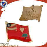 Custom Soft Enamel Epoxy Etching Flag Badge/Flag Badge/Badge Pin