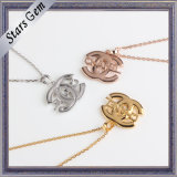 Fashion Special Logo 925 Silver Gold Plated Jewelry Necklace