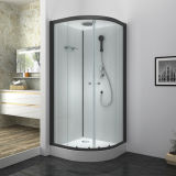 C80011c Black Sliding Tray Pre-Installation Shower Cabin