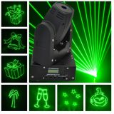 50MW Green 15kpss DMX Mini Moving-Head Animation Laser Light