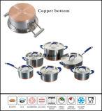 Kitchenware 12PCS Copper Base Cookware Set Impact Bottom Cookware