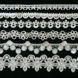 off White Lace Trim for Wedding Dress, Curtain Decoration, Lace Ribbon for Gift Wrapping L096