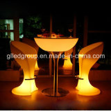 RGB Color Changing LED Lounge Furniture Dining Table