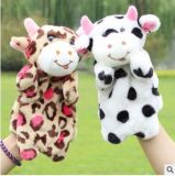 Custom Cheap Plush Cow Hand Puppet Toy for Holiday