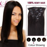 Virgin Brazilian Remy Hair Extension Cheap 100% Human Hair Clip in Hair Extension