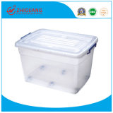 2019 New Durable High Quality Competitive Price 120L Clear Transparent Plastic Storage Box with Wheels