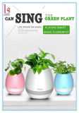 Smart Flowerpot with Bluetooth Speaker + LED Light