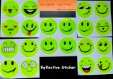 1 Sheet (4 PCS) , Reflective Sticker Small Smile Face for Motorcycle, Bicycle, Toy Any Where for Visible Safety