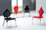Stainless Steel Poker Chair, PU Dining Chair, Classic Fashion Dining Chair, Combination Dining Chair D-40