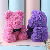 Preserved Roses Teddy Bear Long Lasting Artificial Soap Flower