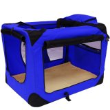 Lightweight Fabric Pet Carrier Crate with Fleece Mat Pet Carrier Bag