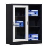 Metal Glass Sliding Door Cabinet Cupboard Office Furniture for Office
