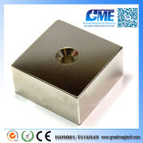 High Quality N50 F50.8X50.8X25.4mm Counterbore NdFeB Magnet