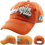Grinding Washed 3D Embroidery Canvas Golf Baseball Cap (TMBC0070)