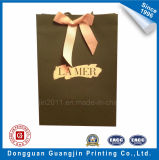 Unique Design Full Printed Paper Gift Bag with Golden Logo